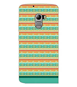 PrintDhaba Tribal Pattern D-1733 Back Case Cover for LENOVO K4 NOTE A7010a48 (Multi-Coloured)