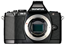 Olympus OM-D E-M5 16MP Live MOS Interchangeable Lens Camera with 3.0-Inch Tilting OLED Touchscreen [Body Only] (Black)