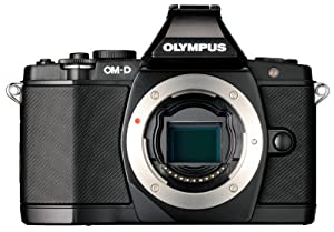 Olympus OM-D E-M5 16MP Live MOS Interchangeable Lens Camera with 3.0-Inch Tilting OLED Touchscreen [Body Only] (Black) (Discontinued by Manufacturer)