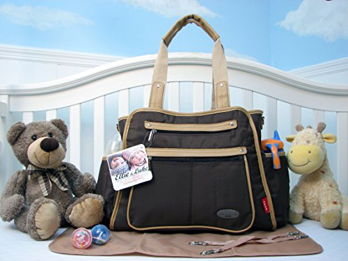 Soho Collection, Ny Gramercy 3 Pieces Ultra Diaper Bag Set *Limited Time Offer !* (Brown) front-586494