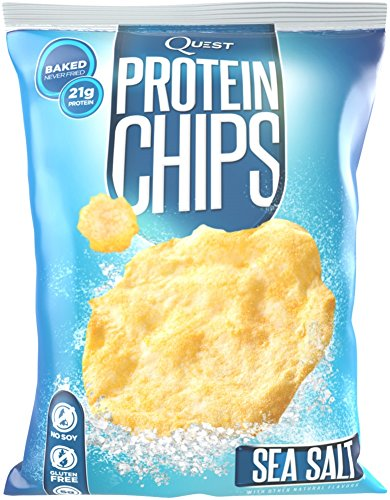 Quest Nutrition Protein Chips, Sea Salt, 21g Protein, Baked, 1.2oz Bag, 8 Count (Quest Protein Crisps compare prices)