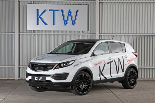 "Kia Sportage By Ktw (2013) Car Art Poster Print On 10 Mil Archival Satin Paper White Front Side Static View 16""X12"""