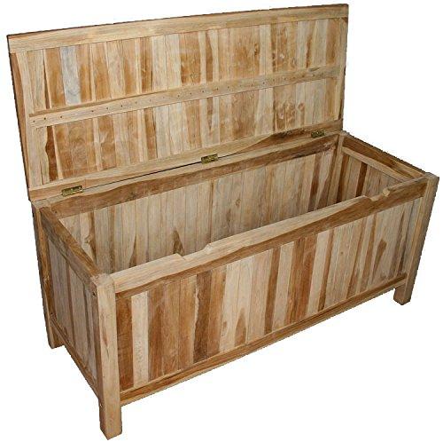 KMH®, Gartentruhe / Kissenbox aus massivem Teakholz (#102113) günstig kaufen