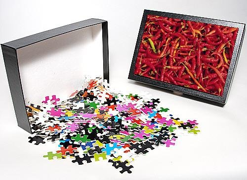 Photo Jigsaw Puzzle Of Red Chilli Peppers