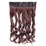 Colorful Straight Hair Extension 5 Clips Wig 33#