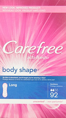 Carefree Body Shape Long Unscented, 92 Count