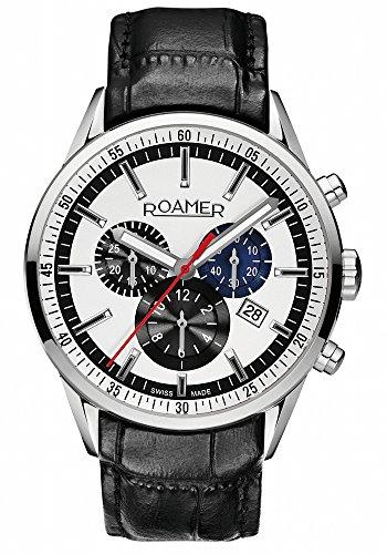Roamer Men's Quartz Watch SUPERIOR CHRONO 508837 SL1 with Leather Strap