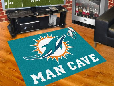"""Miami Dolphins Man Cave All-Star Rug 34""""x45"""" - FAN-14324"""