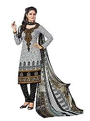 RK Fashion Womens Chiffon Un-Stitched Salwar Suit Dupatta Material ( Rajguru-Rimzim-9043-Grey-Free Size )