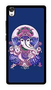 "Humor Gang Ganesha Hindu God - Blue Printed Designer Mobile Back Cover For ""OnePlus X"" (2D, Glossy, Premium Quality Snap On Case)"