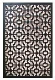 Acurio Fret Black Vinyl Lattice Decorative Privacy Panel