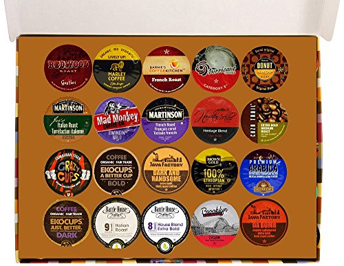 Extra Bold Deluxe Coffee Variety Pack for Keurig K-Cups Brewers, 20 Count (Tullys Italian Roast Decaf K Cups compare prices)