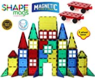Award Winning Magnetic Stick N Stack 154 pc's MEGA Set Includes 2 Wheel Bases, Windows & Porches…