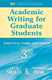 img - for Academic Writing for Graduate Students, 3rd Edition: Essential Tasks and Skills (Michigan Series in English for Academic & Professional Purposes) book / textbook / text book