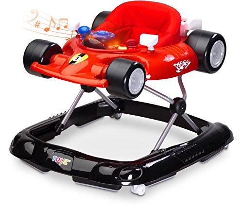 Caretero Toyz Speeder Lauflernhilfe Gehhilfe Laufhilfe mit Spielcenter Red