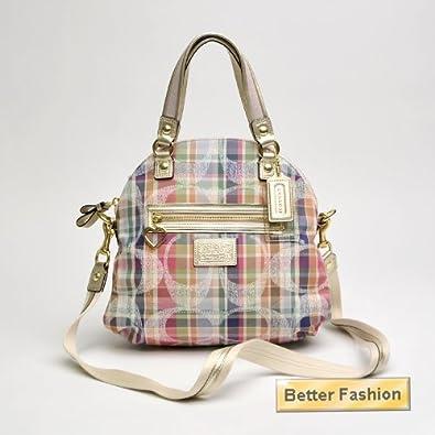 (   ) Discount Coach 23541 Daisy Madras Foldover Crossbody Handbag Shoes 7d1da20cdd3a8