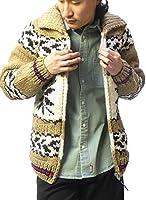 (カナタ)Kanata カウチンセーター メンズ カナディアンセーター ショールカラー ノルディック柄 ニット カーディガン ジャケット 当店限定カラー アメカジ 大きいサイズ ブラウン/アイボリー