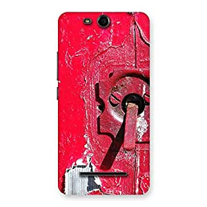 Red Door Back Case Cover for Micromax Canvas Juice 3 Q392