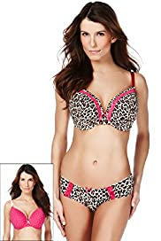 2 Pack Limited Collection Animal & Spot Print Padded DD-GG Bras