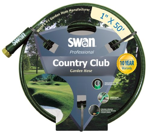 Swan Country Club SNCCC01050 Professional Heavy Duty 1-Inch by 50-Foot Green Water Hose (1 Water Hose compare prices)