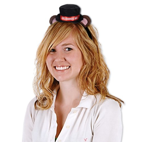 Plush Groundhog Day Headband Party Accessory (1 count) (1/Pkg) - 1