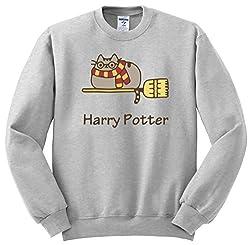 Facebook Pusheen Cat Harry Potter Crewneck Sweatshirt Unisex