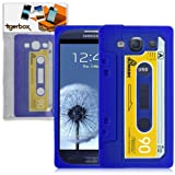 Tigerbox Flexible Silicone Retro Cassette Tape Style Skin Cover Case for Samsung Galaxy S3 i9300 Mobile Phone (Blue)
