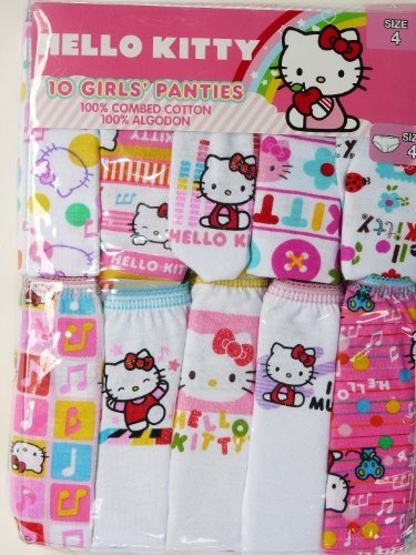 Handcraft Hello Kitty 10 Pack Girls' Panties – Size 4