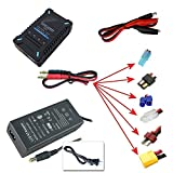 BASTENS easy to use fast LiPo battery balance charger 4Amp 1 2 3 4 cell batteries connectors included for 3DR Iris+ Aero Parrot AR Drone DJI Phantom XT60 Traxxas Losi EC3 Deans mini & standard Tami...
