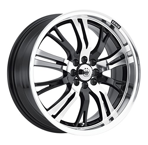 Konig Unknown Gloss Black Wheel with Mirror Machined Face (20x8