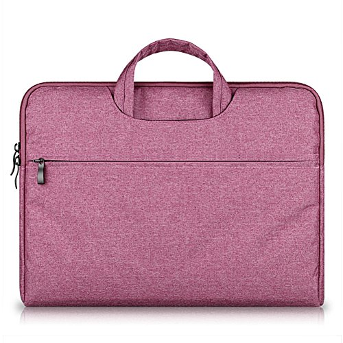 G7Explorer Water-resistant Laptop Sleeve Case Bag Portable Computer handbag For Apple Macbook Air Pro and other Notebook 13.3 inches Rose Red