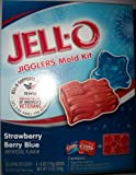 Jell-O Jigglers Mold Kit (Flag & Star Mold, Strawberry & Berry Blue Gelatin Dessert Mix 12 Oz)