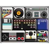 Nostalgic-Art 83070 Retro Wave Media, Magnet-Set, 9-teilig