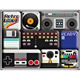 Nostalgic-Art 83070 Retro Wave Media, Magnet-Set, 9-teilig