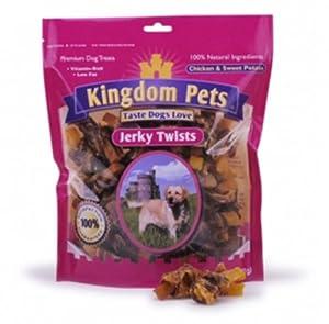 Kingdom Pets Jerky Twists Chicken &SweetPotato, 4-Ounce
