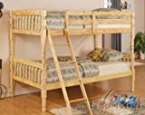 Twin Size Bunk Bed Cottage Style in Natural Finish