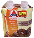 Atkins Atkins Day Break Creamy Chocolate Shake, 11-Ounces (Pack of 4)