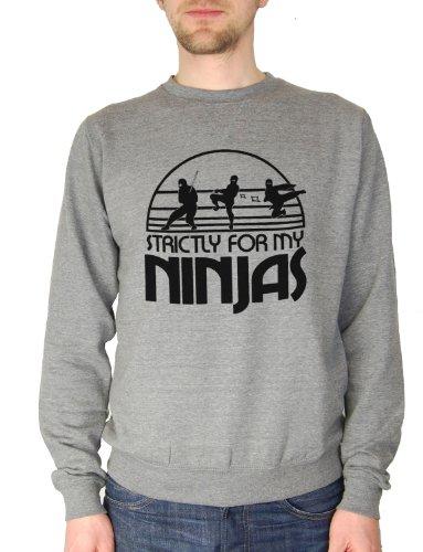 Balcony Shirts 'Strictly For My Ninjas' Mens Sweatshirt - Grey - Small