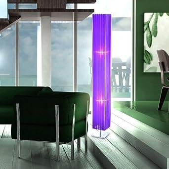 led stehleuchte lila schirm 9 watt stehlampe wohnzimmer beleuchtung licht us269. Black Bedroom Furniture Sets. Home Design Ideas