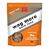 Cloud Star Wag More Bark Less Soft & Chewy Dog Treats - Peanut Butter Cookie, 6-Ounce (Pack of 4)