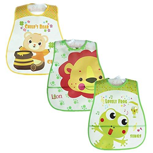 youjia-bebes-ninos-ninas-paquete-de-3-baberos-impermeables-con-velcro-y-impresion-de-animales-verde-