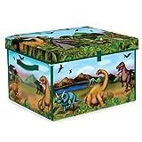 Neat-Oh! ZipBin 160 Dinosaur Collector Toy Box & Playset w/ 2 Dinosaurs ~ ZipBin