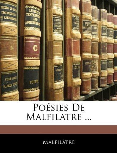 Poésies De Malfilatre ...