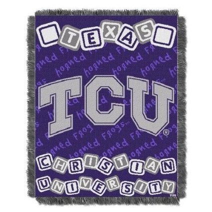 Ncaa Tcu Horned Frogs Fullback Woven Jacquard Baby Throw Blanket, 36X46-Inch front-841761