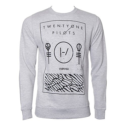 Felpa Thin Line Box Twenty One Pilots (Grigio) - Large
