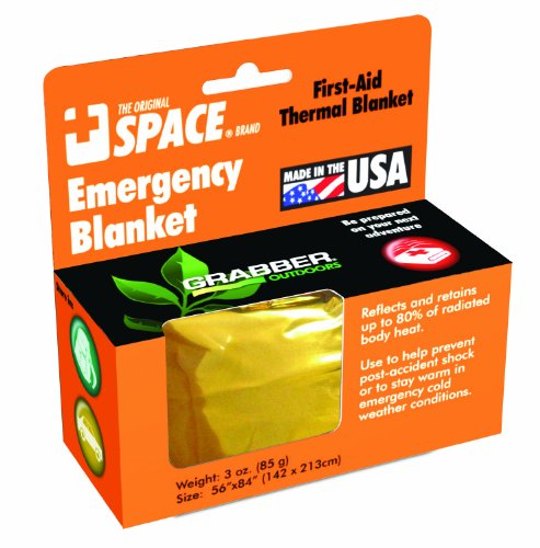 Grabber Outdoors The Original Space Brand Emergency Survival Blanket- Gold/Silver (Pack of 3) (Space Blanket Gold compare prices)