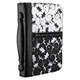 Micro-Fiber Black & White Print Bible / Book Cover - Psalm 46:10 (Large)