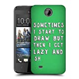 Head Case Designs Lazy Designer A Graphic Designer's Life Protective Snap-on Hard Back Case Cover for HTC Desire 300