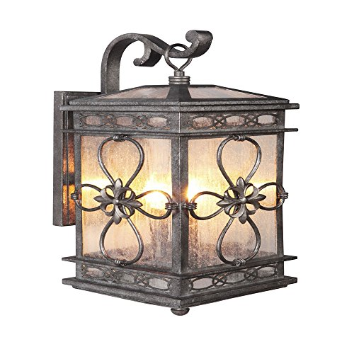 Craftmade Z2324-18- Edinburgh 3 Light Large Wall Mount in Dark Granite with Clear Seeded Glass