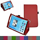 Mama Mouth Folio 2-folding Slim Fit Stand Case Cover For 7.85 Trio AXS 4G 3G Android Tablet Red